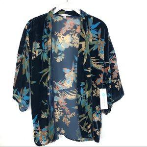 Collective Concepts Lissy Velvet Burnout Kimono